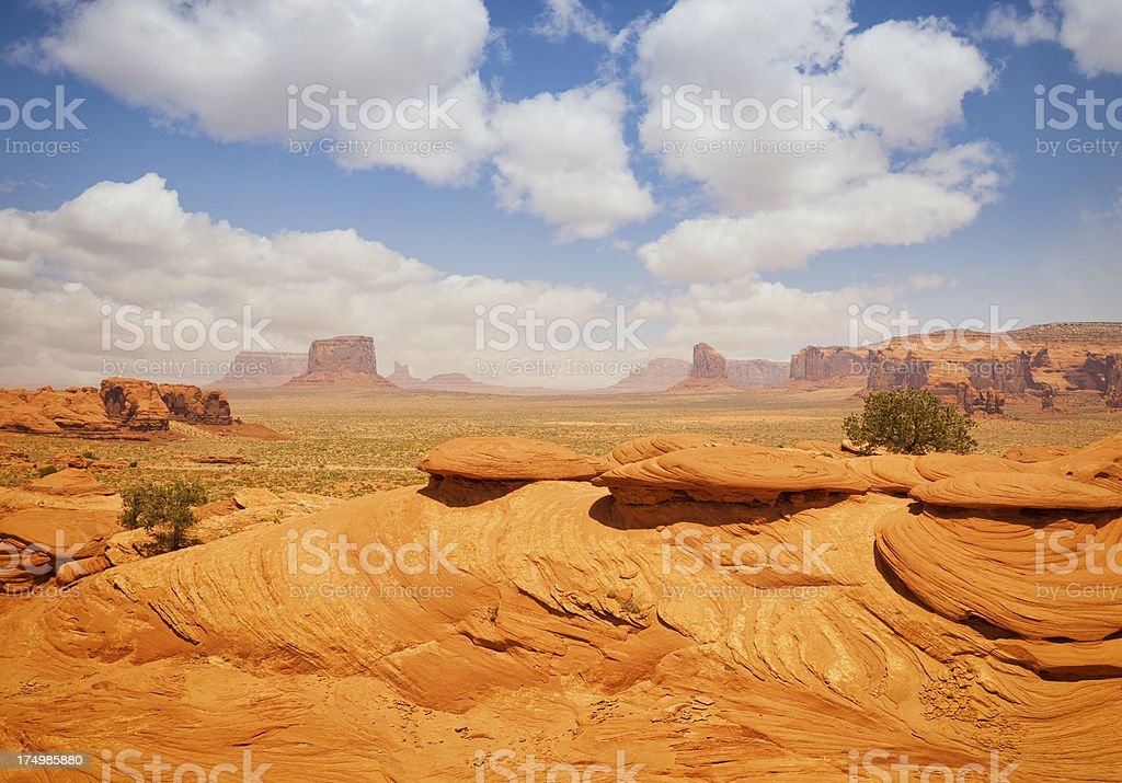 The Flying Saucers in Mystery Valley - Monument.Valley stock photo
