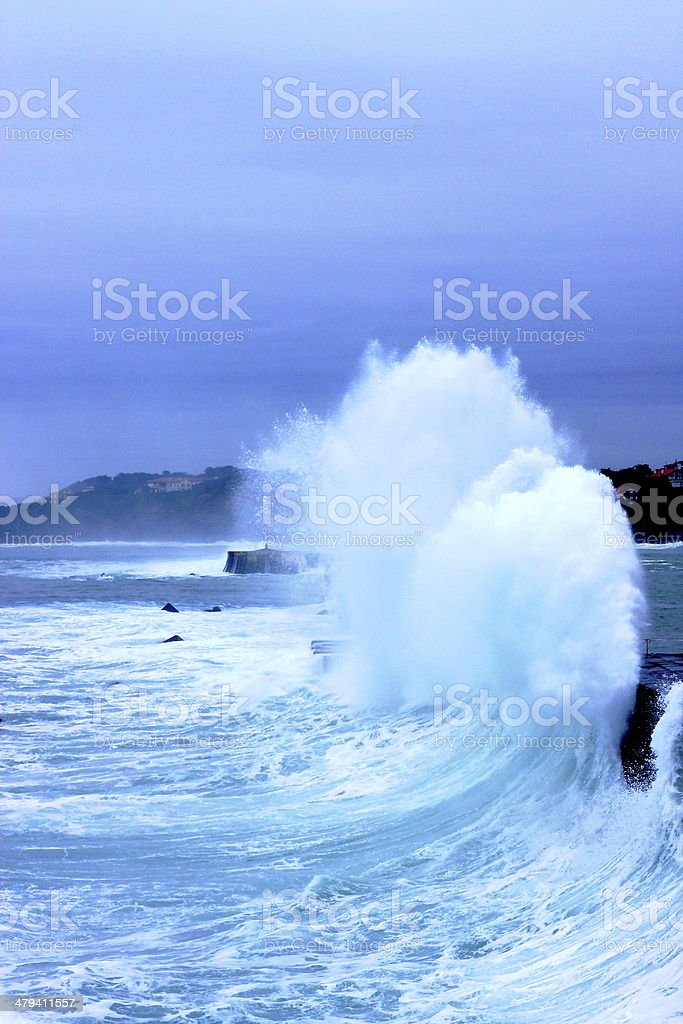 The foam-France stock photo