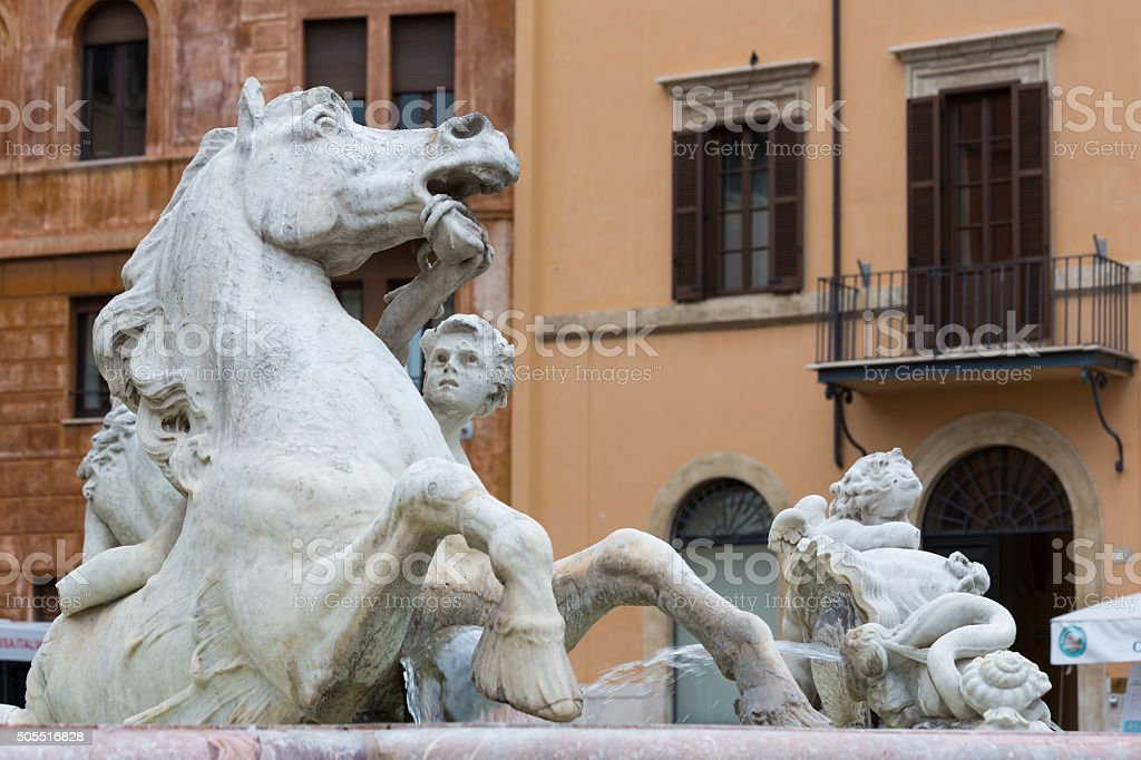 The Fontana del Nettuno - Rome - Italy stock photo