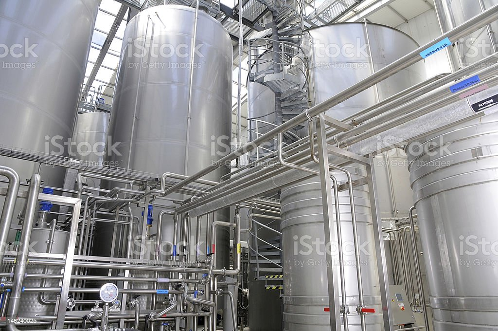 The food-processing industry. stock photo