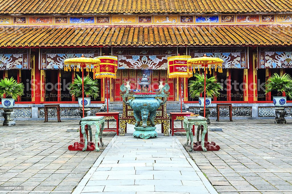 The Forbidden City at Hue, Vietnam stock photo