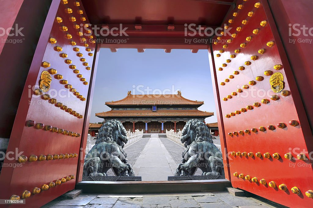The Forbidden City in Beijing - China stock photo