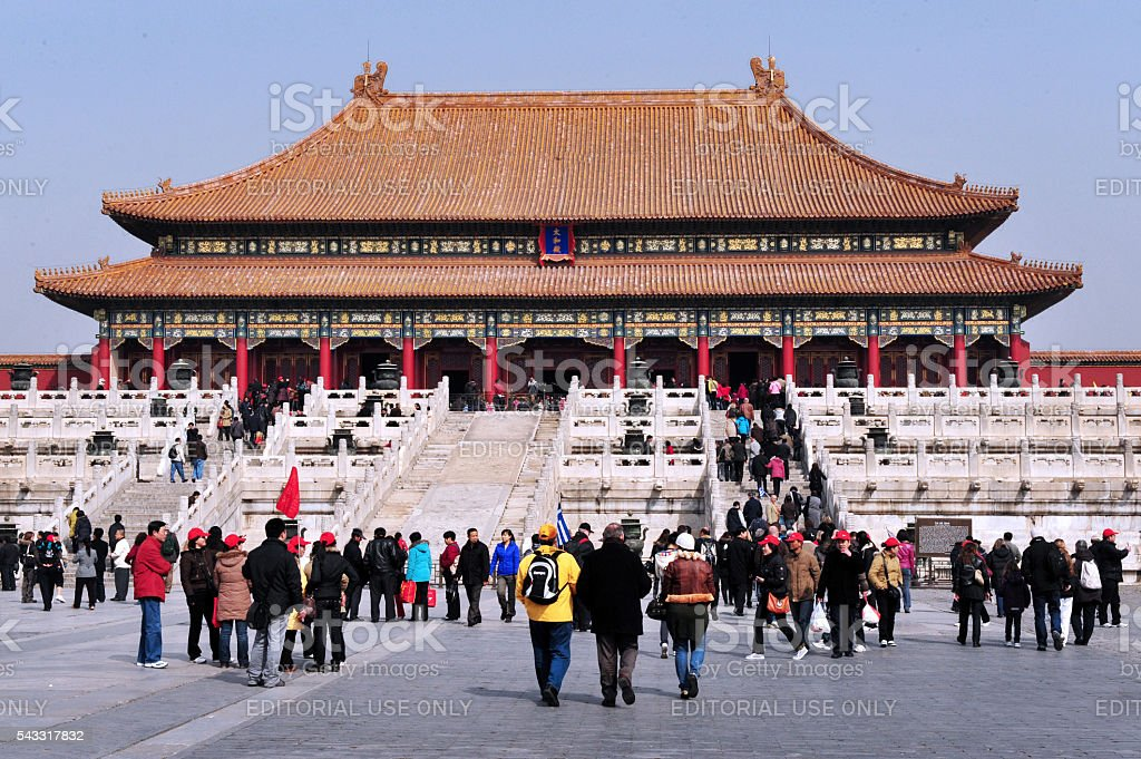 The Forbidden city in Beijing China stock photo