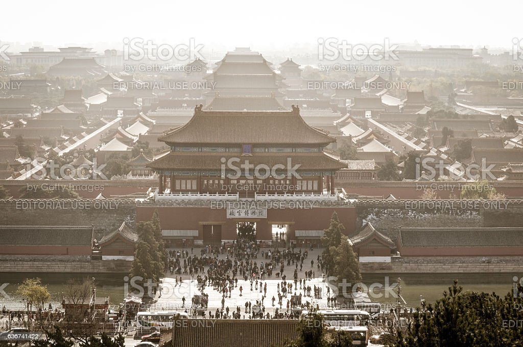 The Forbidden City in Beijing, China stock photo