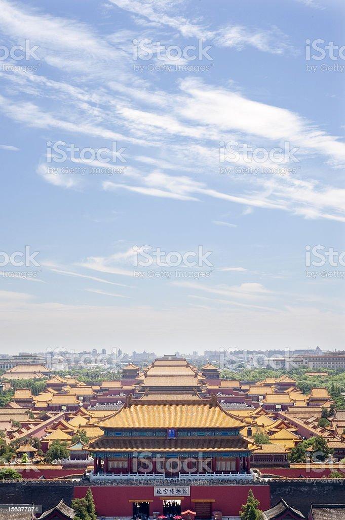The Forbidden City Panorama stock photo