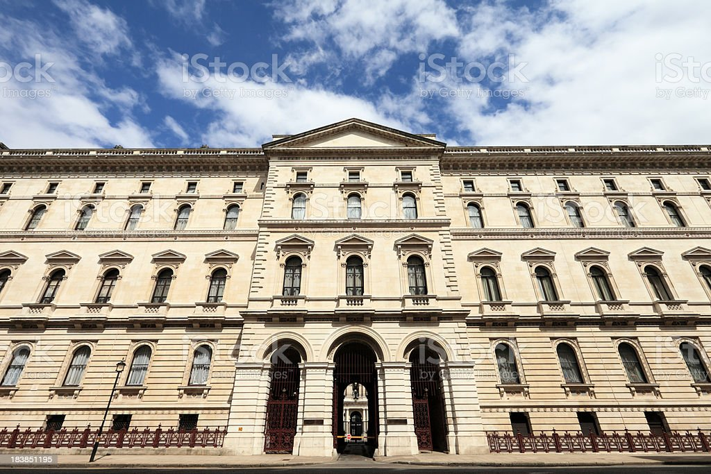 The Foreign Office in Whitehall stock photo