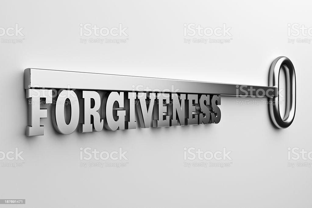 The Forgiveness key stock photo