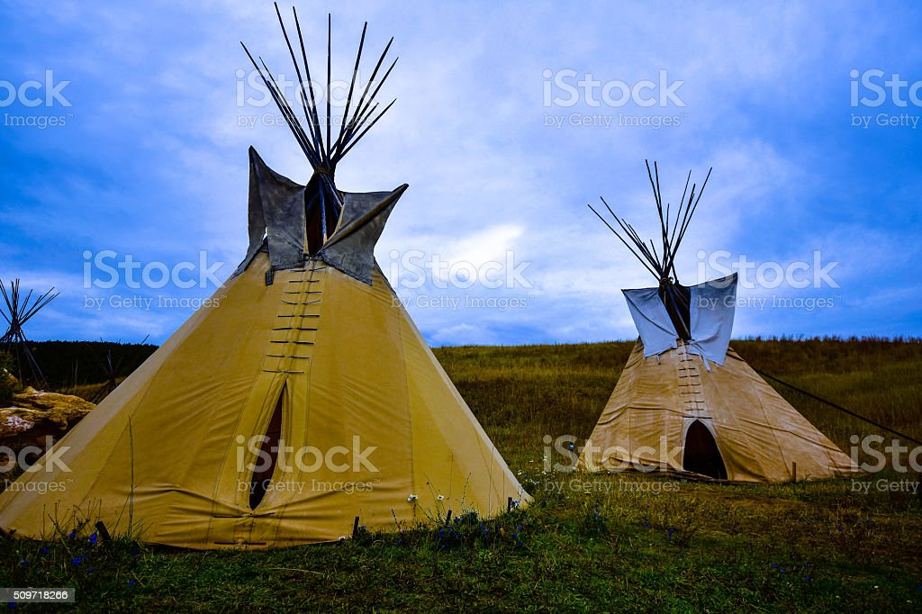 The forgotten campground. stock photo