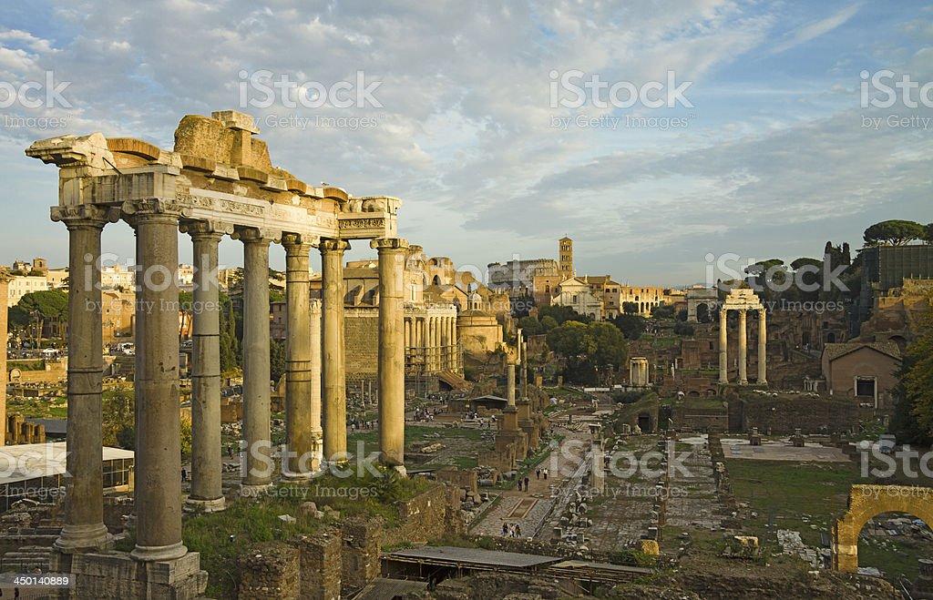 The Fori Imperiali in Rome, Italy stock photo