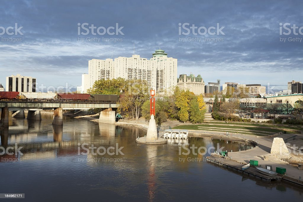 The Forks Winnipeg royalty-free stock photo