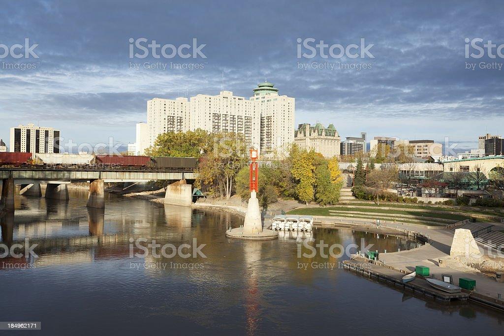 The Forks Winnipeg stock photo