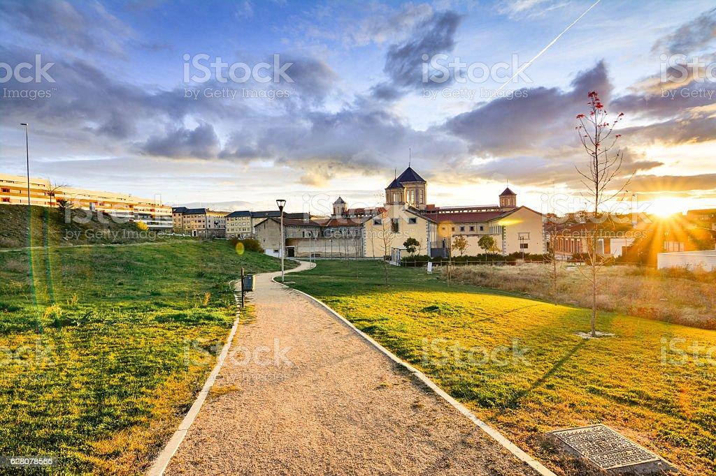 The former provincial prison of Segovia stock photo