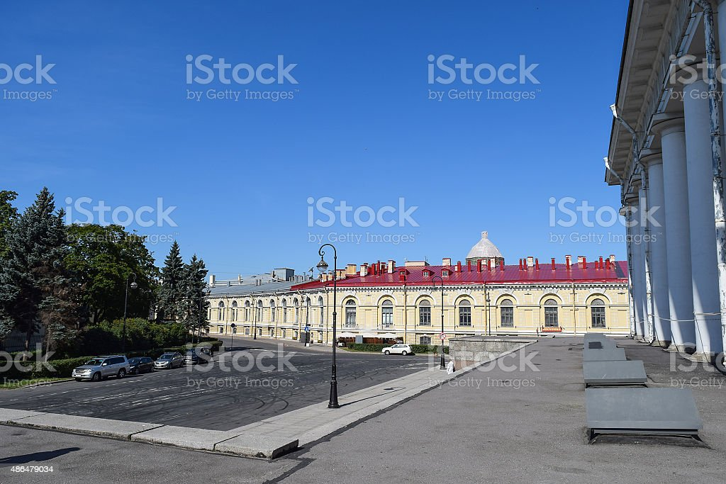 The former stock exchange building. stock photo