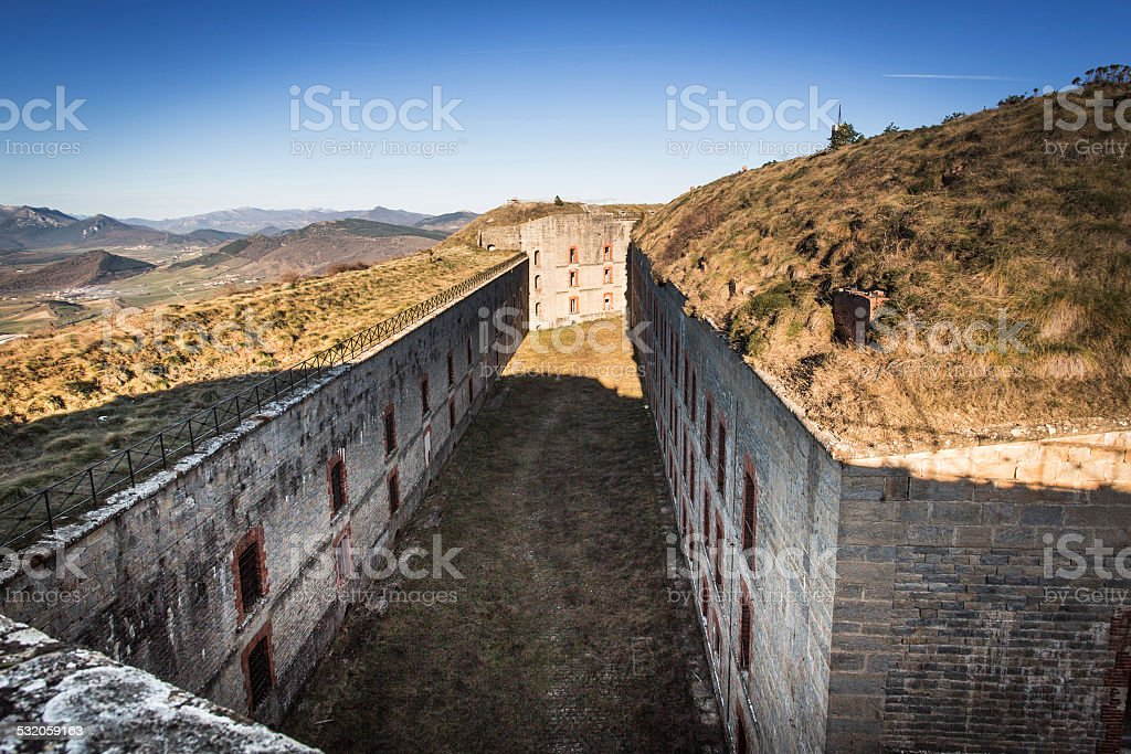 The Fort Alfonso XII or San Cristobal (Navarre, Spain) stock photo