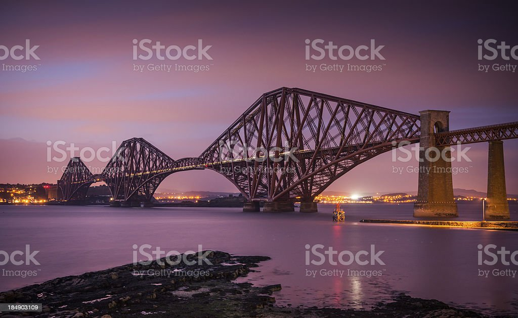 The Forth Bridge stock photo