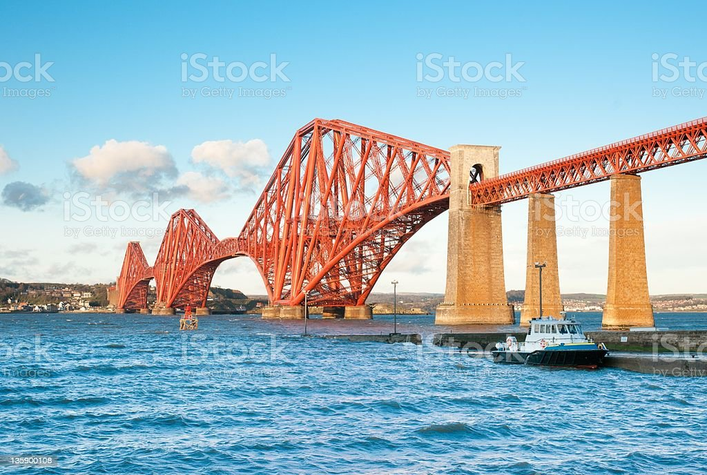 The Forth Bridge, Scotland, scaffolding free stock photo