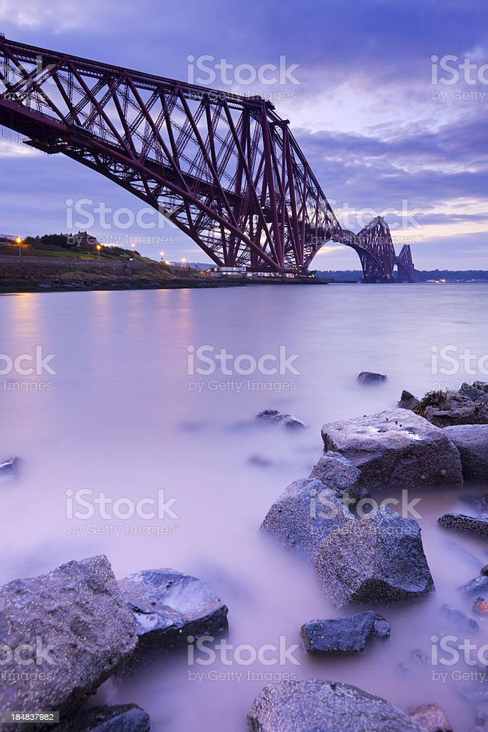 The Forth Rail Bridge near Edinburgh, Scotland stock photo