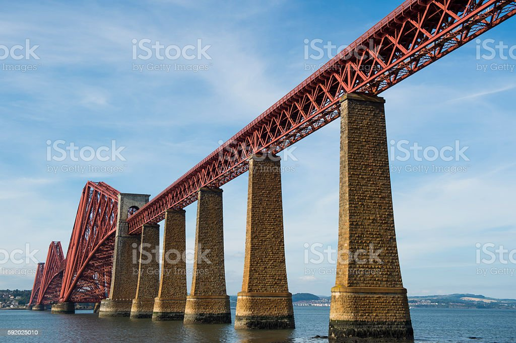 The Forth rail bridge over the Firth of Forth Scotland stock photo