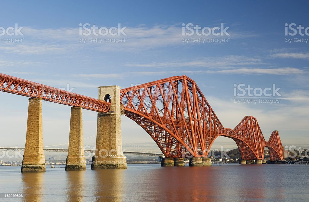 The Forth Rail Bridge stock photo