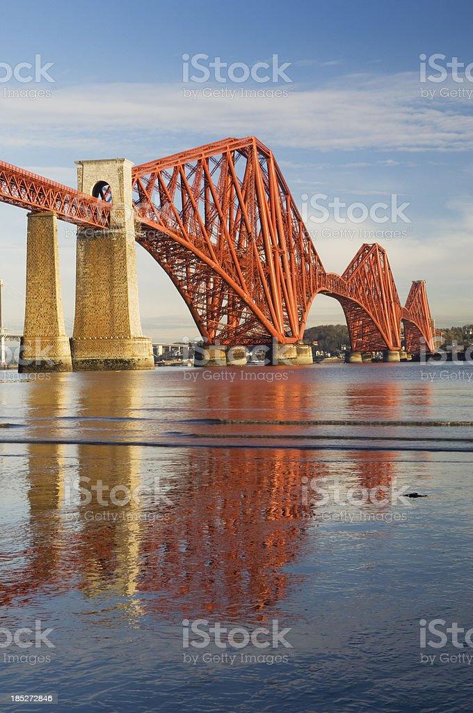 The Forth Rail Bridge stock photo
