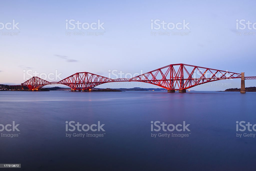 The Forth Rail Bridge, Queensferry, Edinburgh stock photo