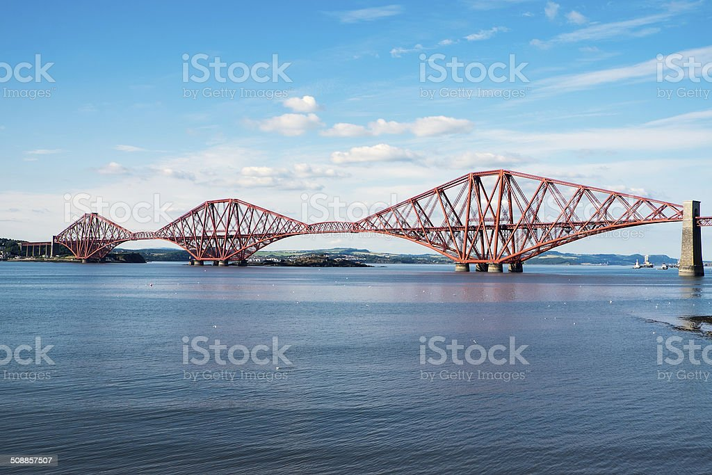 The Forth railway bridge stock photo