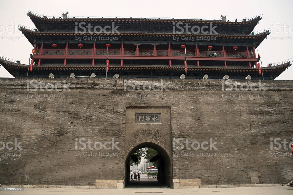 The fortifications of Xi'an royalty-free stock photo
