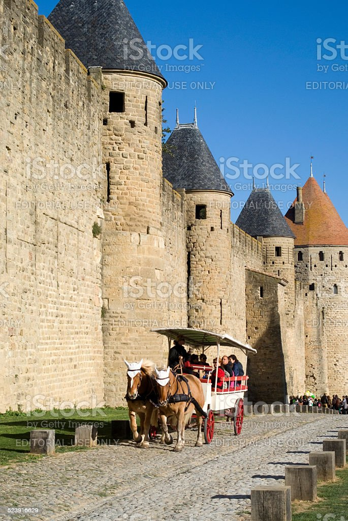 The Fortified city of Carcassonne stock photo