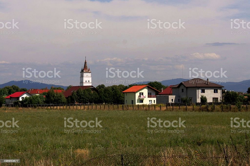The Fortified Evangelical Church from Hărman stock photo