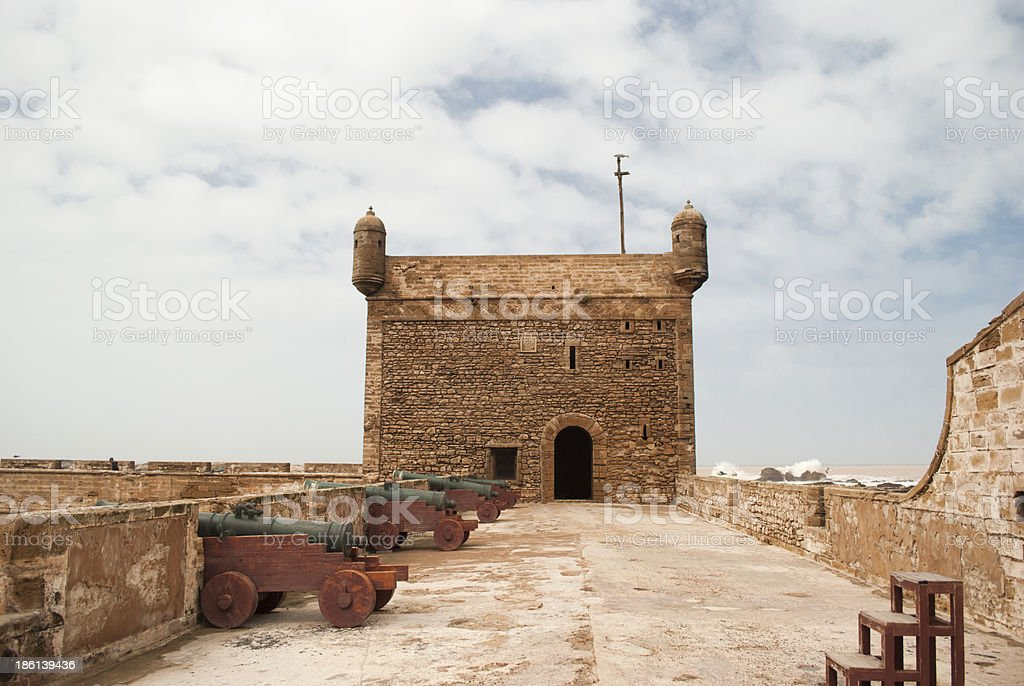 The fortress of Castelo Real  Mogador at Essaouira, Morocco stock photo
