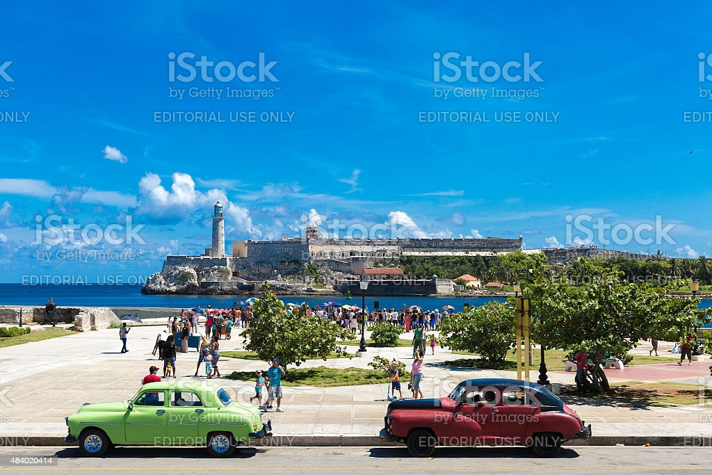 The fortress of El Morro in Havana, Cuba stock photo