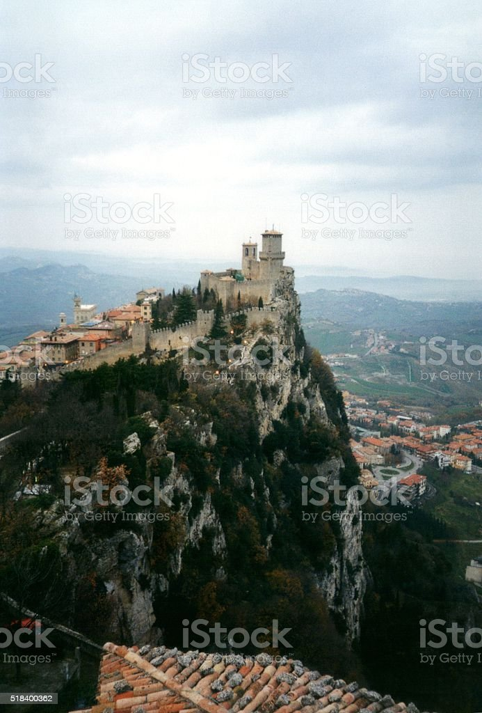 The fortress of Guaita on Mount Titano, San Marino stock photo