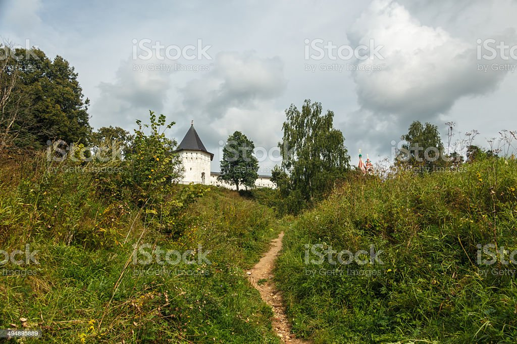 The fortress on the hill royalty-free stock photo
