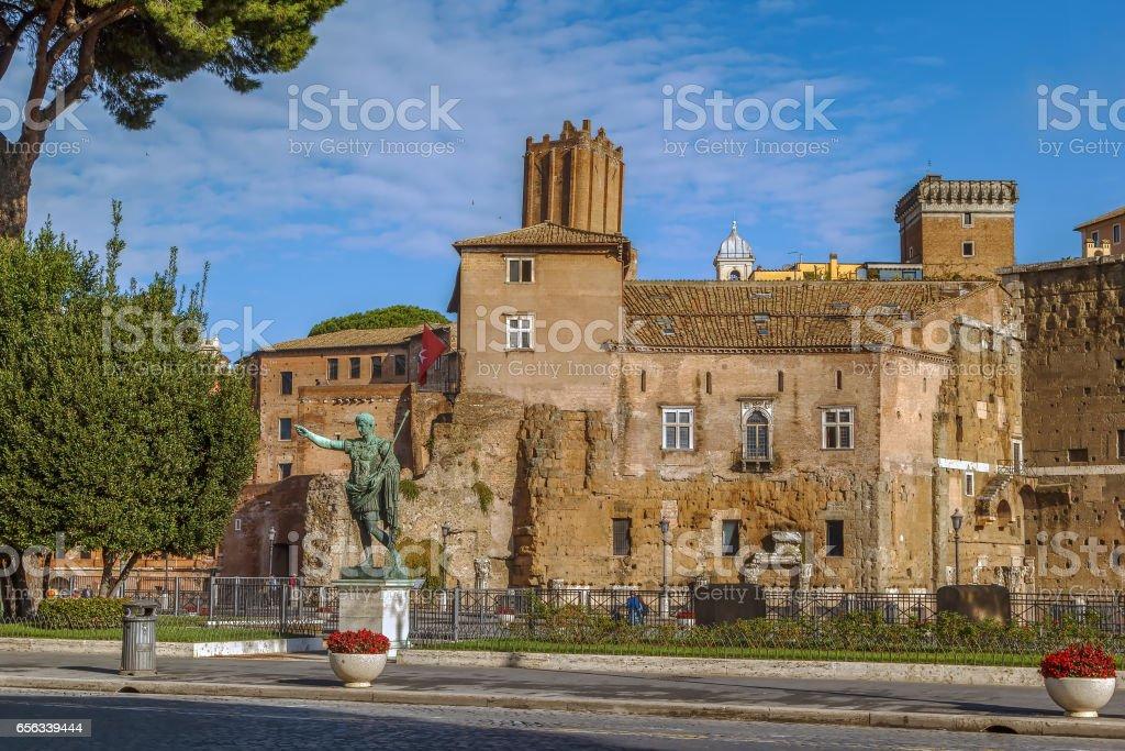 The Forum of Augustus stock photo