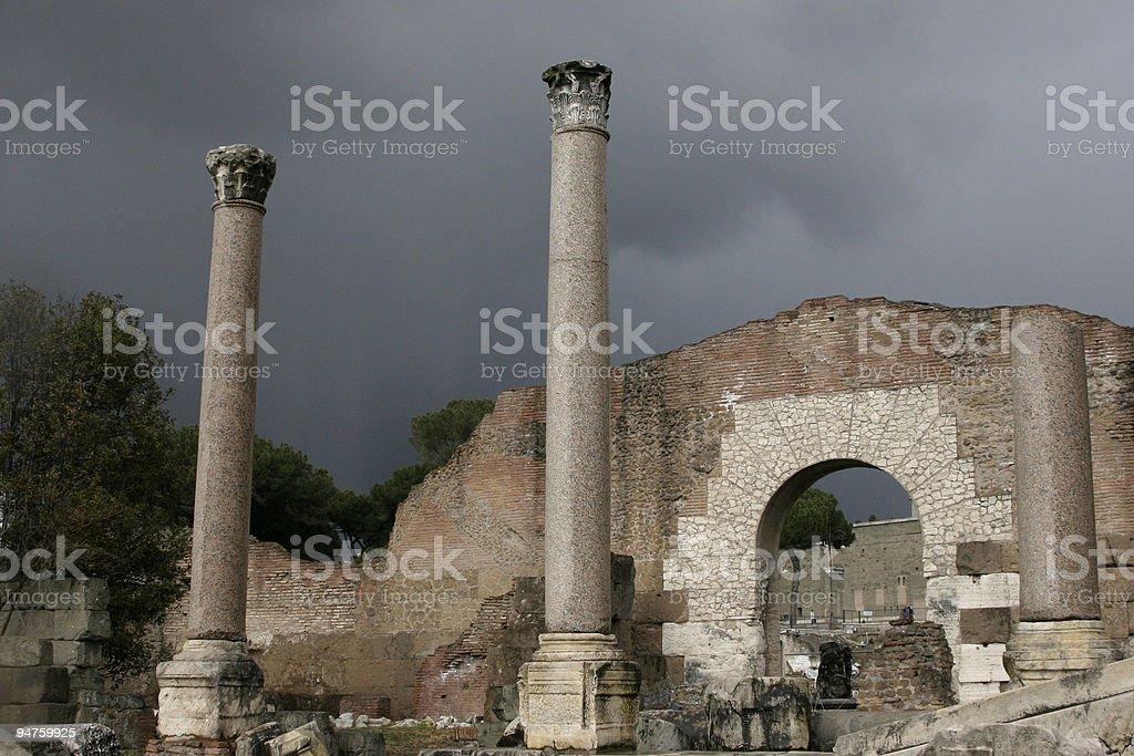 The Forum Romanum royalty-free stock photo