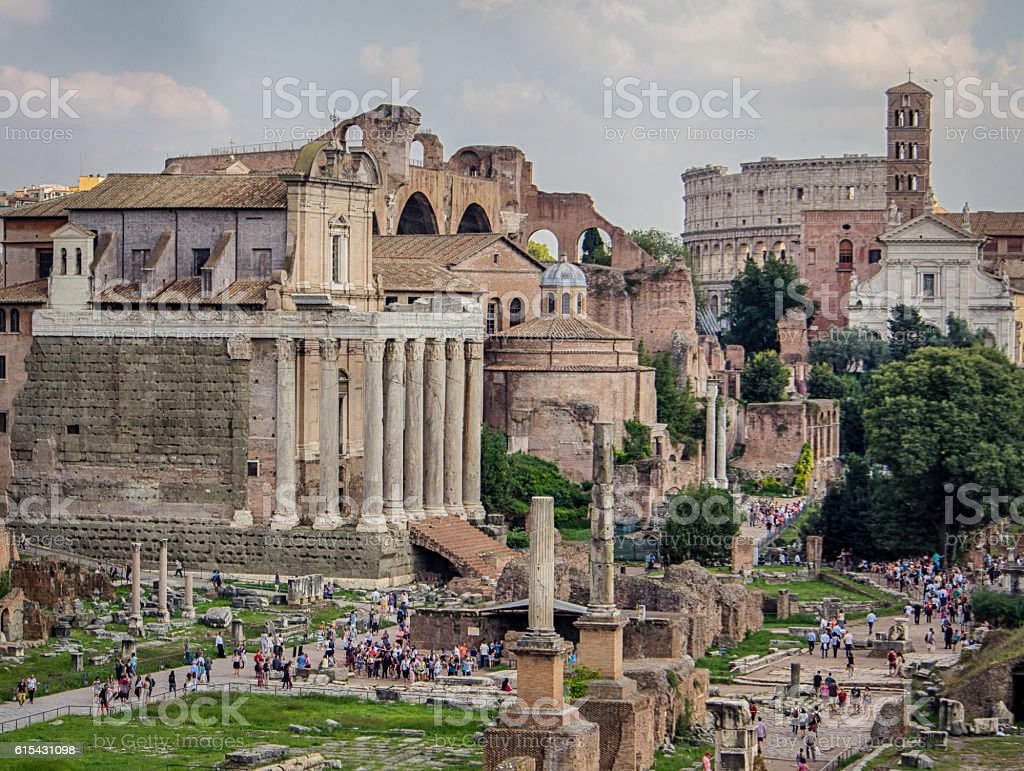 The Forum, Rome, general view stock photo