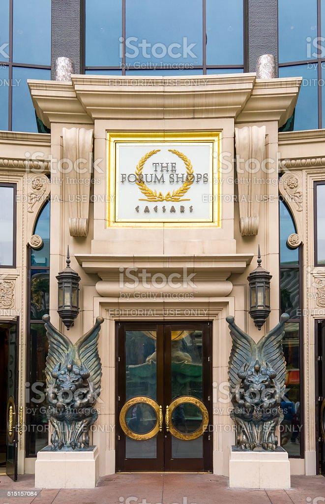 The Forum Shops at Caesars Palace stock photo