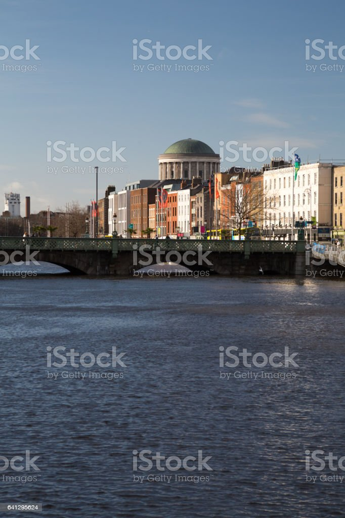 The Four Courts in Dublin City, Ireland stock photo