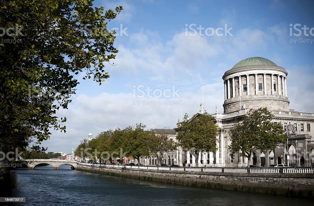 The Four Courts royalty-free stock photo