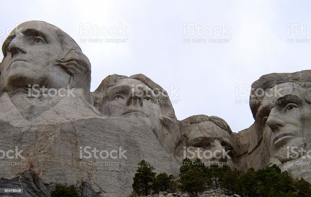 The four great presidents royalty-free stock photo