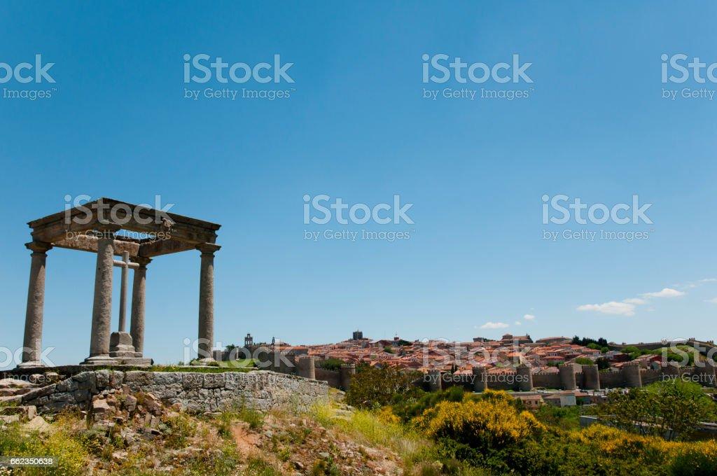 The Four Posts - Avila - Spain stock photo