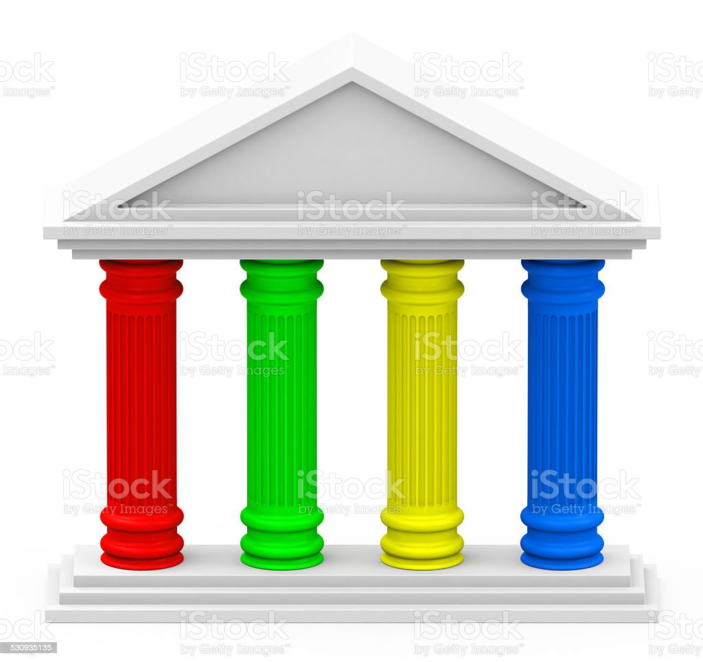 the four-pillar strategy stock photo