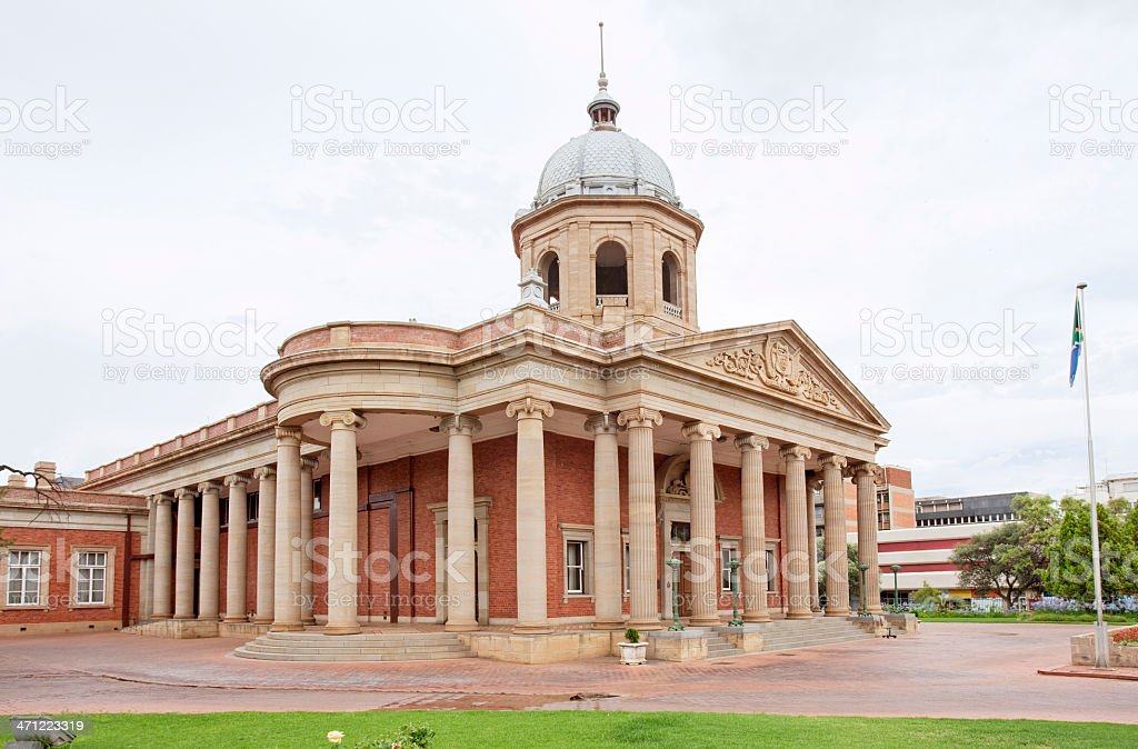 The 'Fourth Raadsaal' in Bloemfontein royalty-free stock photo