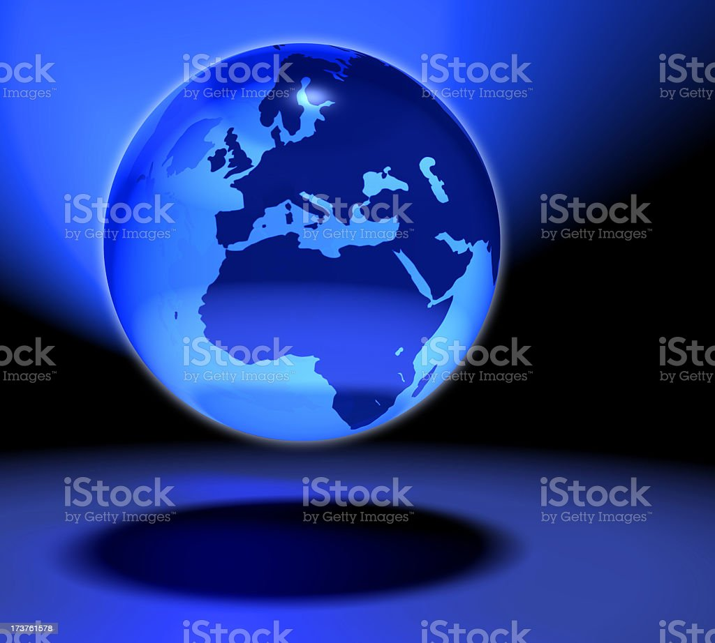 The fragile glass marble Earth 2 royalty-free stock photo