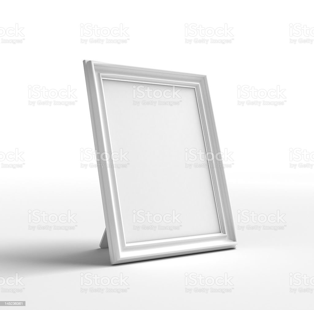 The frame on a white background stock photo