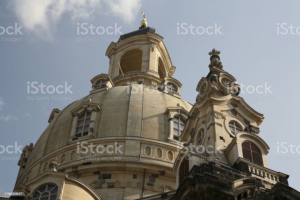 The Frauenkirche in Dresden stock photo