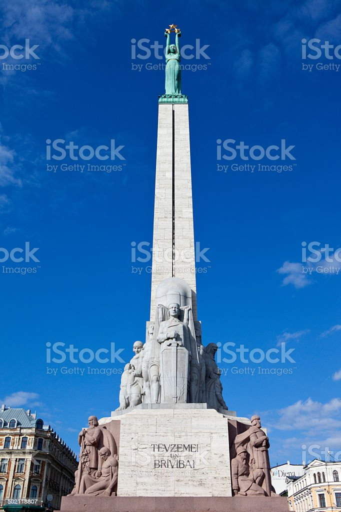 The Freedom Monument in Riga royalty-free stock photo