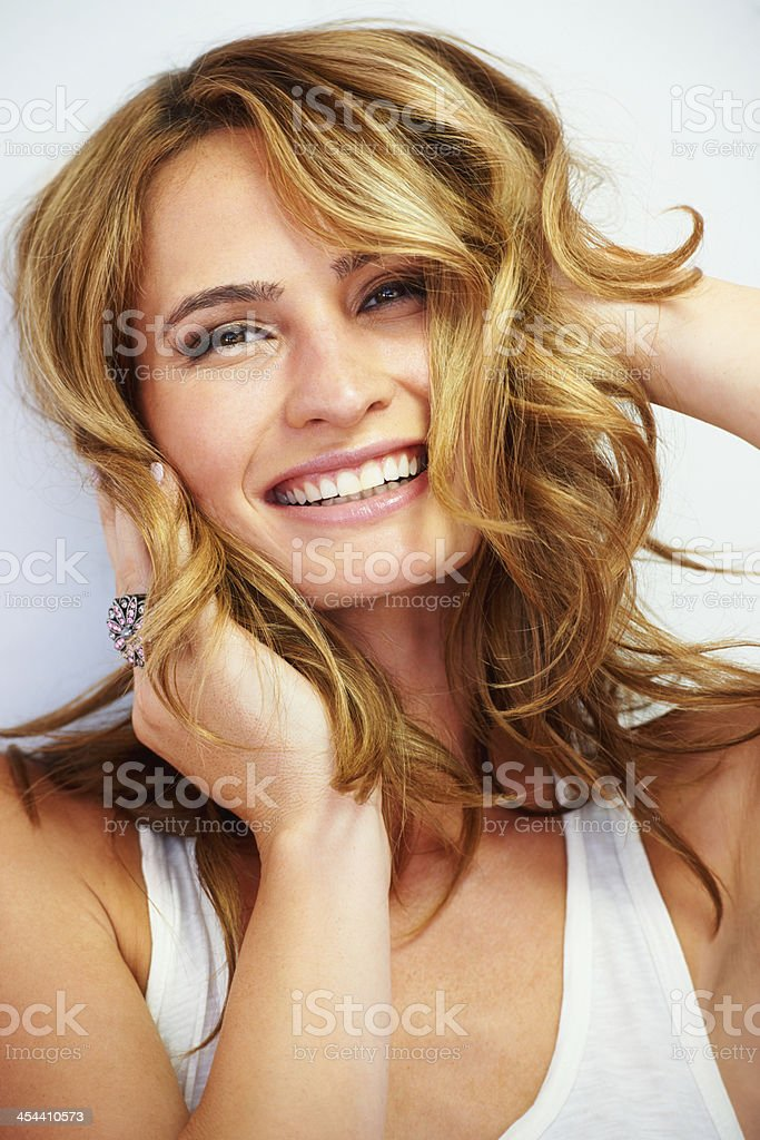 The freedom of femininity stock photo