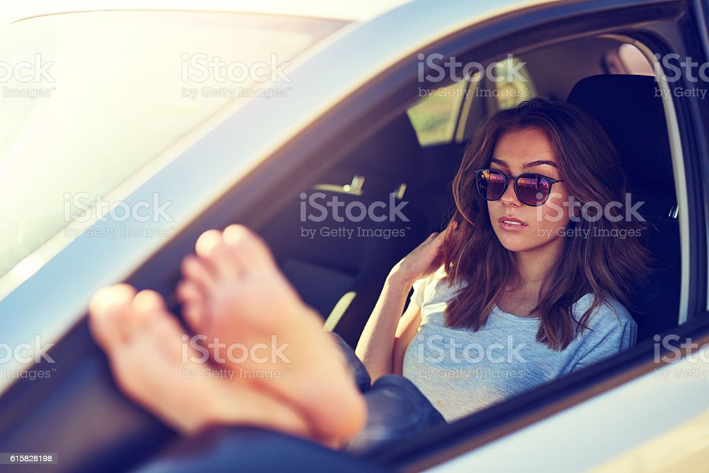 The freedom of the roadtrip stock photo
