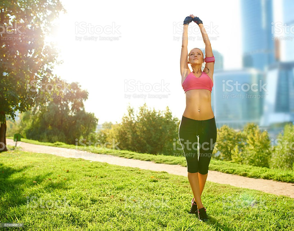 The freedom to be healthy stock photo